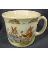 Royal Doulton Bunnykins Hug A Mug DAISY CHAINS 1 Handled Bone China Engl... - $19.95
