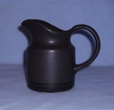 Pfaltzgraff Midnight Sun Creamer 12 ounce Black Stoneware - $8.99