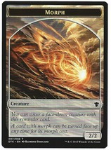 MTG Magic The Gathering Promo Morph Token Cards Dragons of Tarkir - $1.50