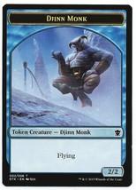 MTG Magic The Gathering Promo Djinn Monk Token Card Dragons of Tarkir - $1.50