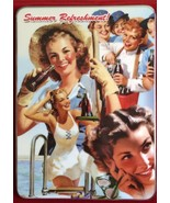 """Bradford It's Time for Coca-Cola """"Summer Refreshment' Replacement Plate Plaque * - $38.62"""