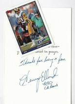 HENRY ELLARD AUTOGRAPHED TRADING CARD AND HAND WRITTEN GET WELL CARD RAMS - £4.93 GBP
