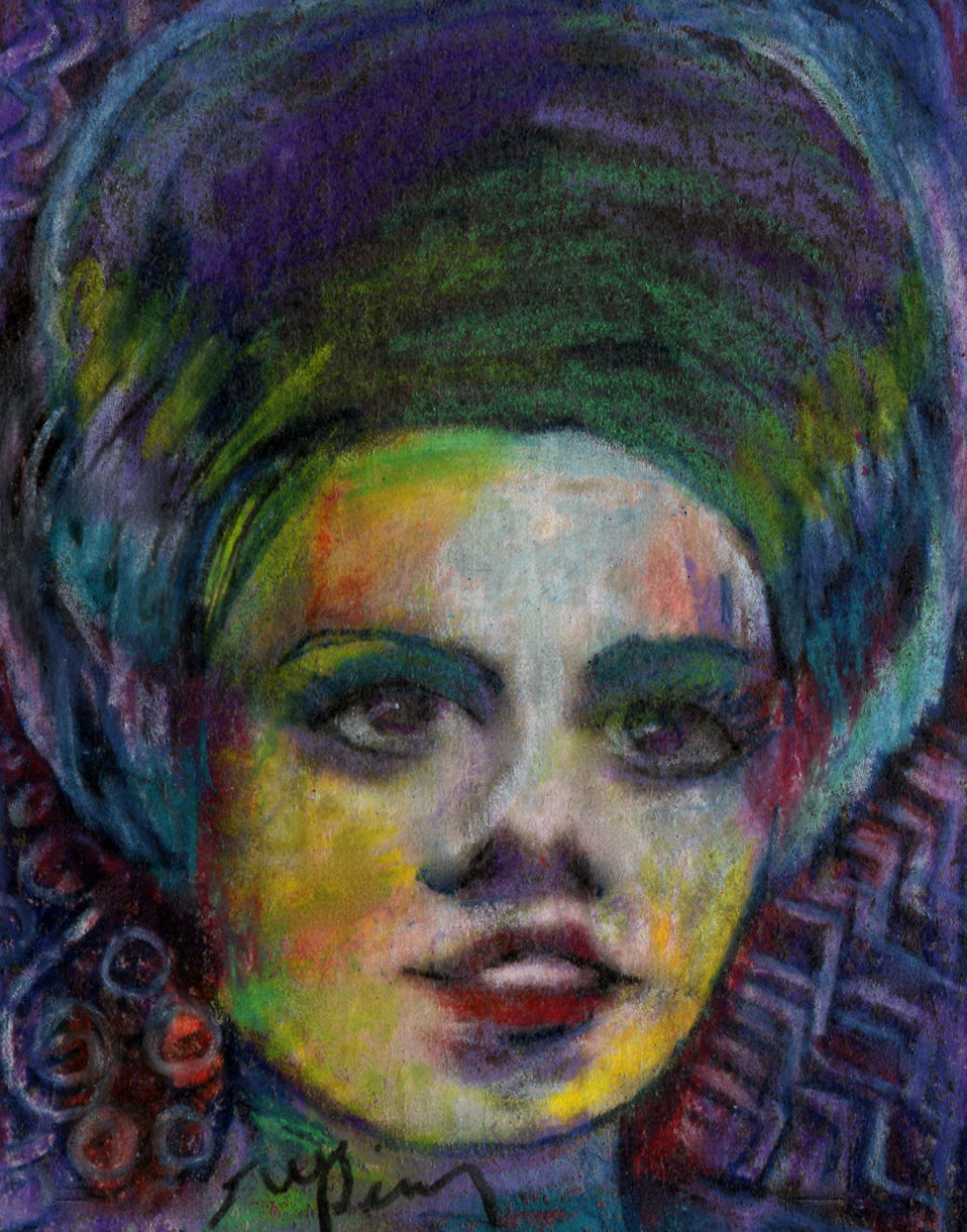 Primary image for original ACEO drawing Halloween vintage horror movie bride of Frankenstein