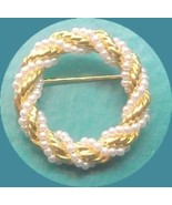 Enternity  Circle PIN created  pearl and rope t... - $8.00
