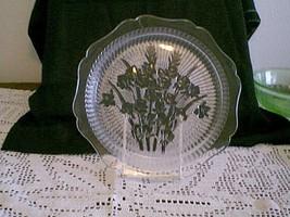 """Jeannette Glass 9"""" Crystal Iris & Herringbone Dinner Plate - $24.75"""