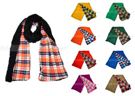 "80"" Plaids & Checks Double Layer Long Warm Winter Scarf Crochet Woolen Fashion - $9.95"