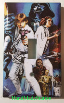 Star Wars Characters Old Poster Light Switch Outlet wall Cover Plate Home decor