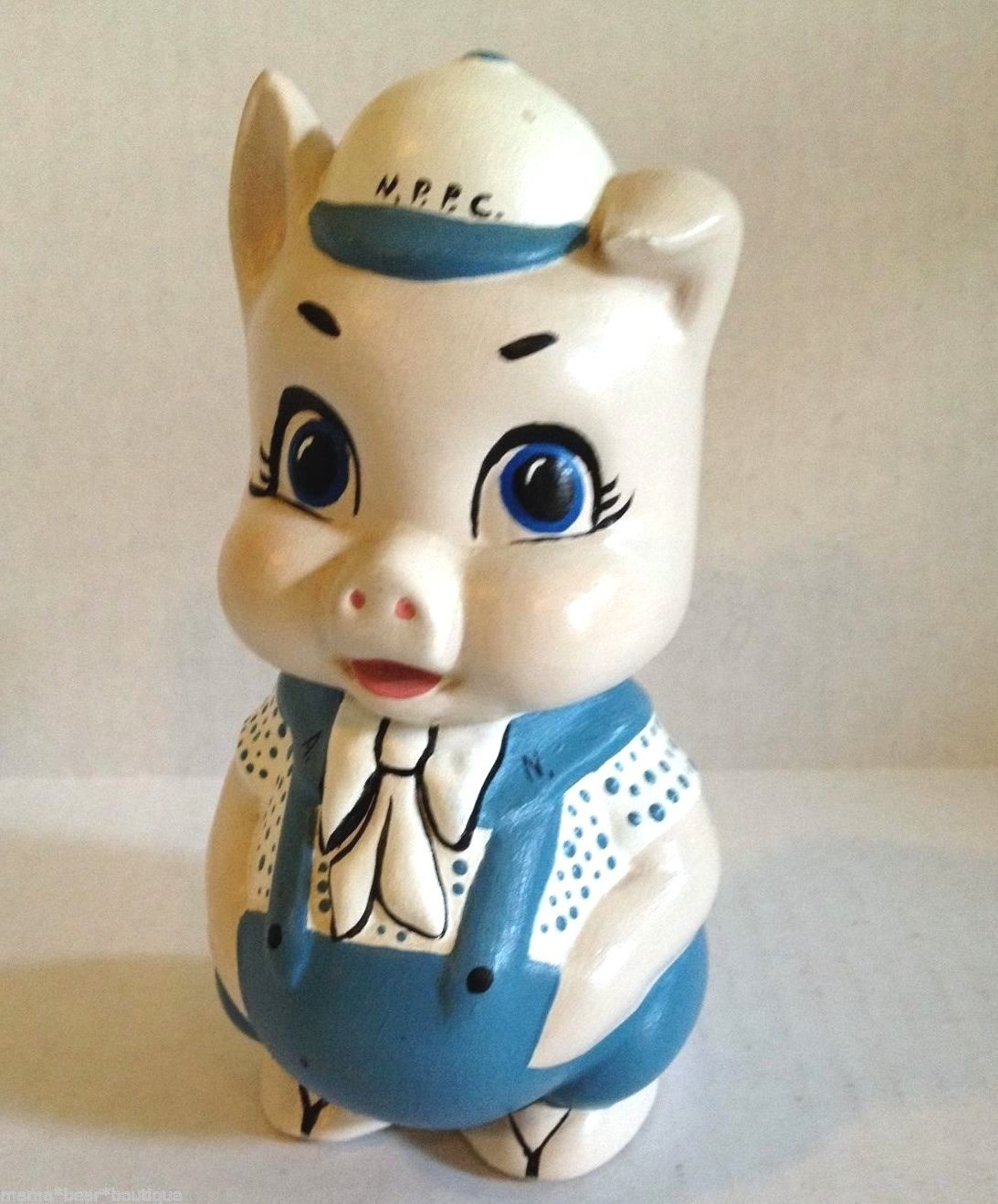 Primary image for Vintage Chalkware Pig Planter with Stopper