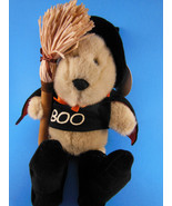 STARBUCKS BEARISTA BOO WITCH BEAR BEAN BAG PLUSH yr 2000 HALLOWEEN 11TH ... - $15.24