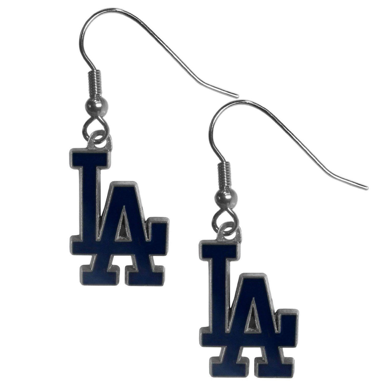 LOS ANGELES DODGERS PAIR DANGLE EARRINGS TEAM LOGO PARTY TAILGATE MLB BASEBALL