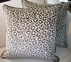 Pair Of Lee Jofa High End Cheetah Velvet Pillows - $389.00