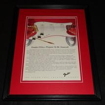 1984 Fender Elite Guitars Framed 11x14 ORIGINAL Advertisement - $32.36