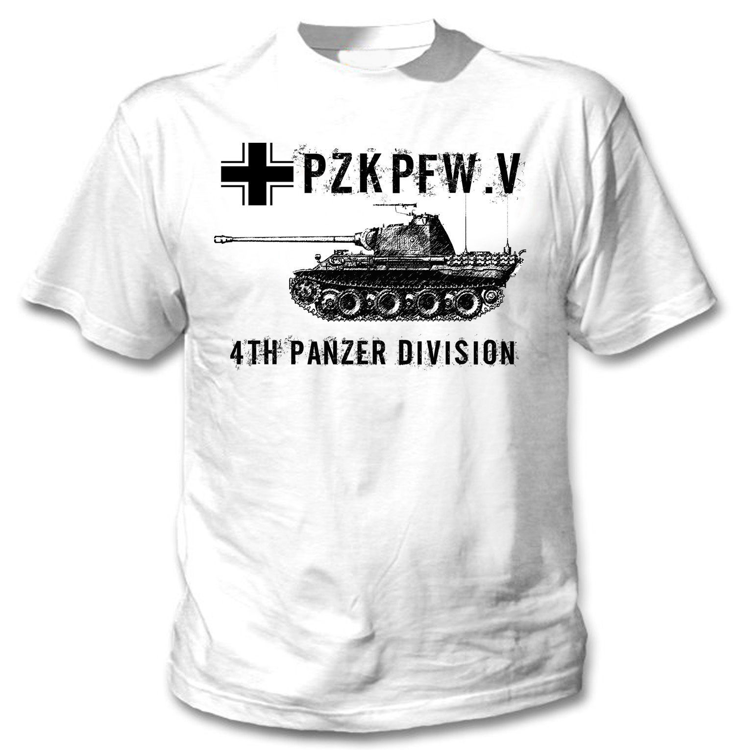 Primary image for PANZER TANK V GERMANY WWII - NEW WHITE COTTON TSHIRT