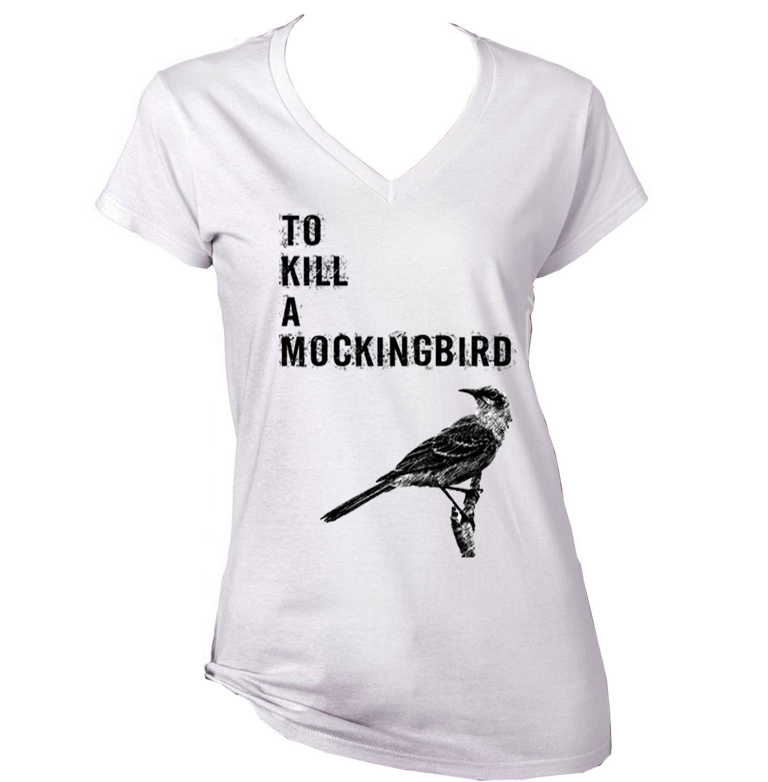 Primary image for TO KILL A MOCKINGBIRD - LADY COTTON WHITE TSHIRT