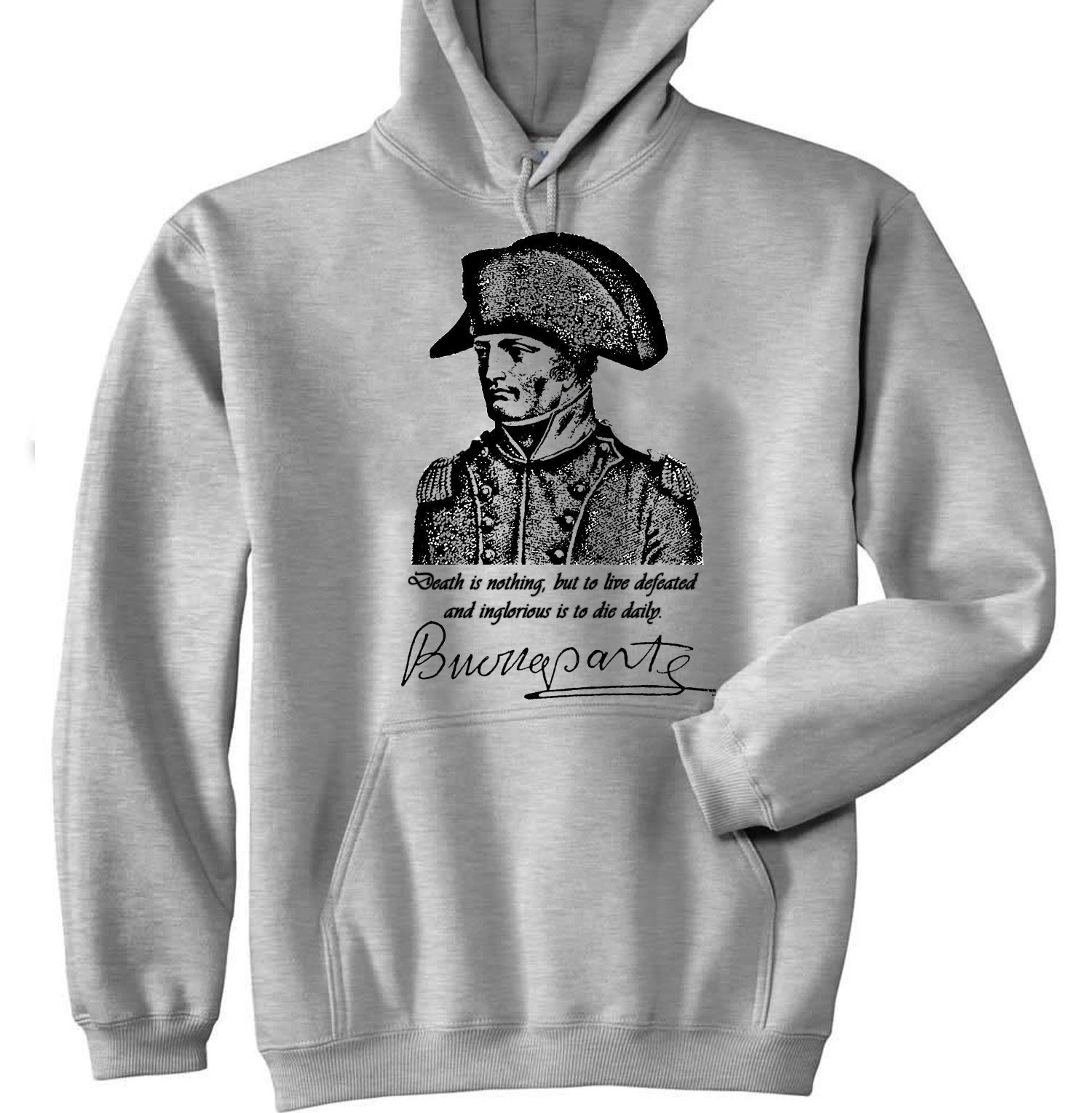 Primary image for NAPOLEON BONAPARTE 1 - NEW COTTON GREY HOODIE - ALL SIZES IN STOCK