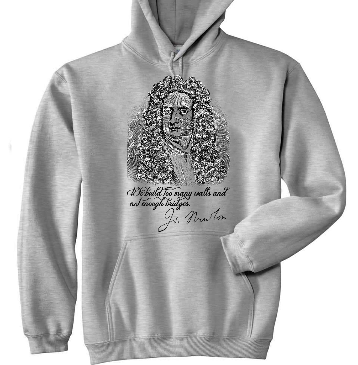 Primary image for ISAAC NEWTON - NEW COTTON GREY HOODIE - ALL SIZES IN STOCK