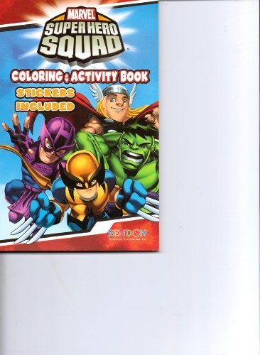 Primary image for Marvel SuperHero Squad Coloring & Activity Book Stickers Included [Paperback]...