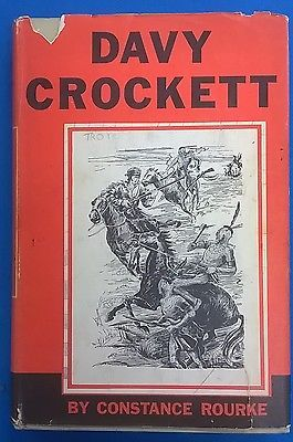Primary image for DAVY CROCKETT by Constance Rourke (1962) HBJ illustrated HC