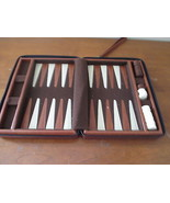 Backgammon game in leather zip case - $7.99