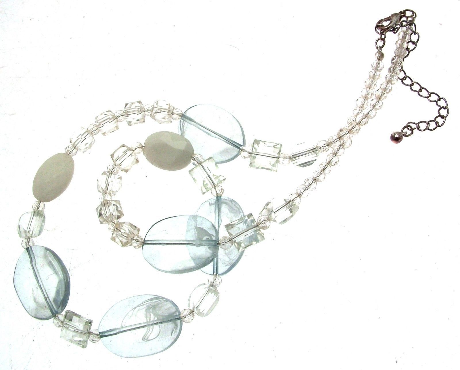 Beaded Necklaces Statement Necklaces For Women Pale Blue Necklaces Code 12812