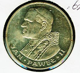 Primary image for Poland 1,000 Zlotych 1983 Silver Coin Pope John Paul II - HIGH GRADE TONED