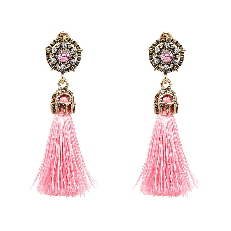 JURAN 2017 Vintage Design Colorful Tassel Statement Earring 2017 New Fashion Rop