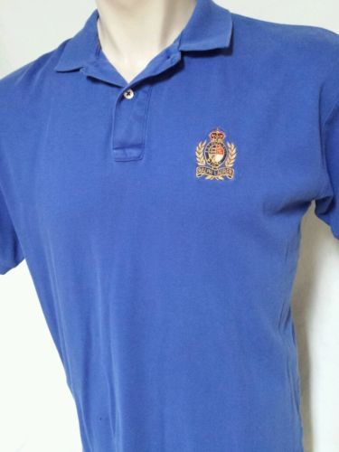 Primary image for VTG Polo Ralph Lauren Cookie Crest Shirt 92 Suicide Mens Size Large