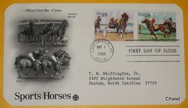 First Day Cover- Sports Horses- Harness Racing & Polo - $8.00