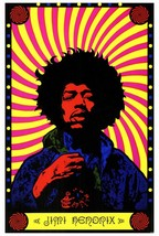JIMI HENDRIX POSTER 27x40 inches PSYCHEDELIC 1967 ARE YOU EXPERIENCED? R... - $29.99