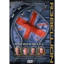 WWF: Rebellion 2001 Pre-viewed DVD WWE Jericho Angle Rock Austin oop