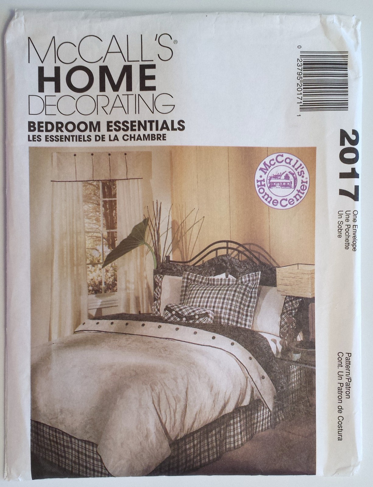 Mccalls 2017 bedroom essentials sewing patterns for Bedroom necessities