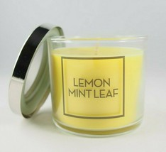 (1) Bath & Body Works Yellow Lemon Mint Leaf Single Wick Scented Candle ... - $8.31