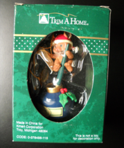 KMart Trim A Tree Christmas Ornament Santa Letter Mouse with Pen and Ink... - $7.99