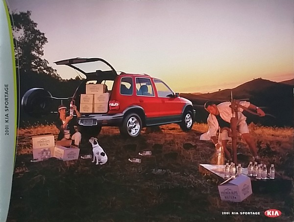 Primary image for 2001 Kia SPORTAGE sales brochure catalog US 01 4x4 EX Limited