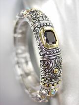 GORGEOUS Designer BALINESE Silver Gold Black Onyx Aqua Blue CZ Crystals ... - $29.99