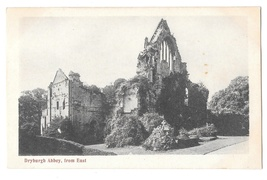 UK Scotland Dryburgh Abbey Ruins from East Vintage Postcard Scottish Bor... - $4.95