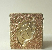 Candle Holder Gold Block - $6.04
