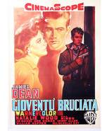 REBEL WITHOUT A CAUSE MOVIE POSTER 27x40 ITALIAN JAMES DEAN NATALIE WOOD... - $29.99