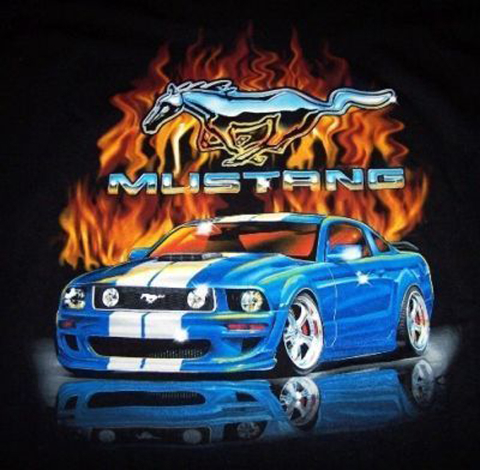 Primary image for Blue GT Mustang Flame  Cross Stitch Pattern***LOOK***