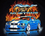 Blue gt mustang flame  cross stitch pattern thumb155 crop