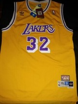 Magic Johnson STITCHED LA Jersey 32 Los Angeles Lakers YELLOW HIGH QUALITY - $22.95