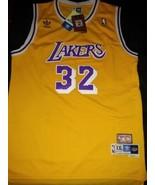 Magic Johnson STITCHED LA Jersey 32 Los Angeles Lakers YELLOW HIGH QUALITY - $22.95