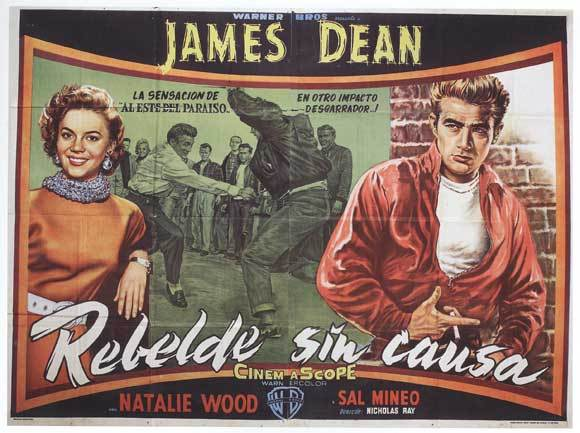 Rebel without a cause movie poster 1955 spanish