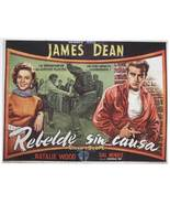 REBEL WITHOUT A CAUSE MOVIE POSTER 27x40 SPANISH JAMES DEAN NATALIE WOOD... - $34.99