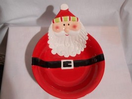 Santa Clause Cookie Candy Bowel / Platter - $18.95
