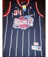 Houston Rockets #34 Hakeem Olajuwon Navy Blue Hardwood Classics Swingman... - $22.95