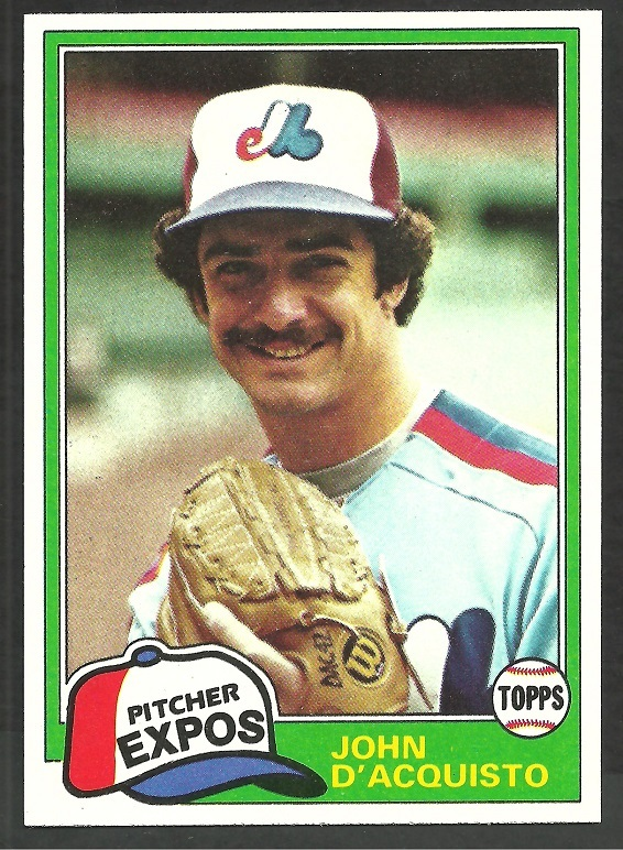 Primary image for Montreal Expos John D'Acquisto 1981 Topps Baseball Card # 427 nr mt