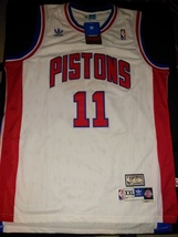 White Isaiah Thomas Retro Detroit Pistons Jersey Hardwood Classic With T... - $22.95