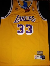 Kareem Abdul-Jabbar STITCHED Jersey #33 Los Angeles Lakers YELLOW HIGH Q... - $22.95
