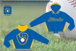 Milwaukee Brewers Adults Adult Fleece Hood Jacket - $84.95